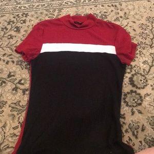 Tight striped shirt